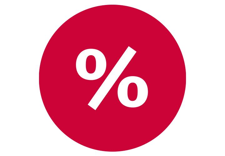 5 % Rabatt mit unserer Kundenkarte + 10% Neukunden-Bonus